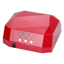Free Shipping 36W UV Lamp LED CCFL Nail Dryer Diamond Shaped Best Curing Machine for UV Gel Nail Polish Nail Art Tools
