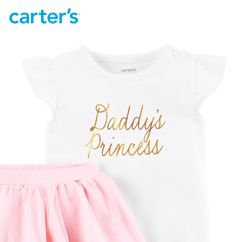 2 pcs Flutter manches Body & Tutu Pantalon vêtements Ensemble de Carter bébé Fille Printemps Été 121I361 12