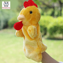 Hen rooster animal shapes Children Hand Puppet kids doll baby plush Stuffed Toy Puppets toys Christmas birthday gift