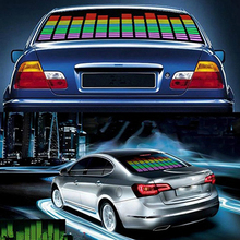 45cm Colorful Car Music Rhythm Sound Activated Equalizer LED Light Lamp Car Sticker Store 47