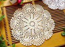 HOT cotton placemat cup coaster mug holder kitchen handmade table place mat cloth lace round Crochet trivet doily dining pad