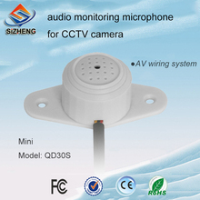 HD mini cctv adjustable wall audio monitor microphone listening devices AV wiring system