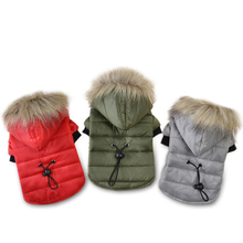 Buy Winter Pet Dog Jacket Clothes Warm Hoodies Waterproof Coat Small Large Dogs Chihuahua Vest Outfit Pu Puppy Costumes Goods for $7.96 in AliExpress store