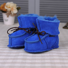Sheepskin Boys And Girls Shoes Winter Baby Toddler Shoes Soft Bottom Lines Baby Shoes Newborn Winter WMC2123 Shoes WMC2121