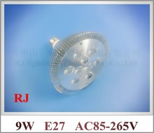 lathe profile aluminum LED spot light lamp spotlight LED bulb par light parlight E27 AC85-265V 9LED 9W 720lm 2 year warranty