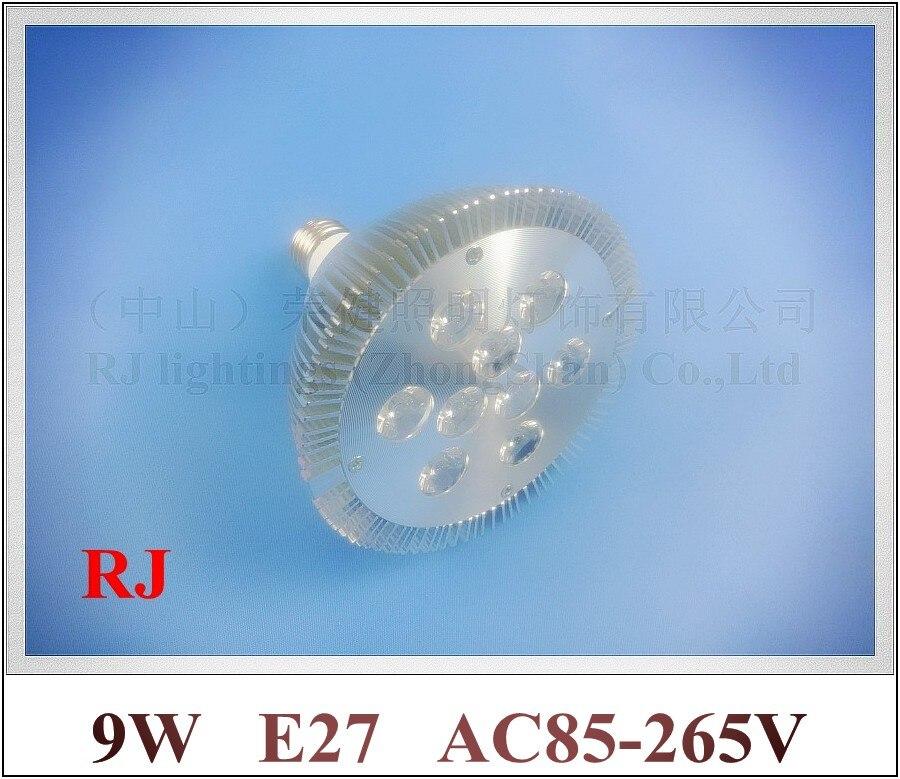 lathe profile aluminum LED spot light lamp spotlight LED bulb par light parlight E27 AC85-265V 9LED 9W 720lm 2 year warranty<br><br>Aliexpress