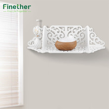 Finether Wall Mounted Wood Plastic Composite Floating Wall Shelf Storage Display Rack Ledge Corner Shelf for Multifuncional Use(China)