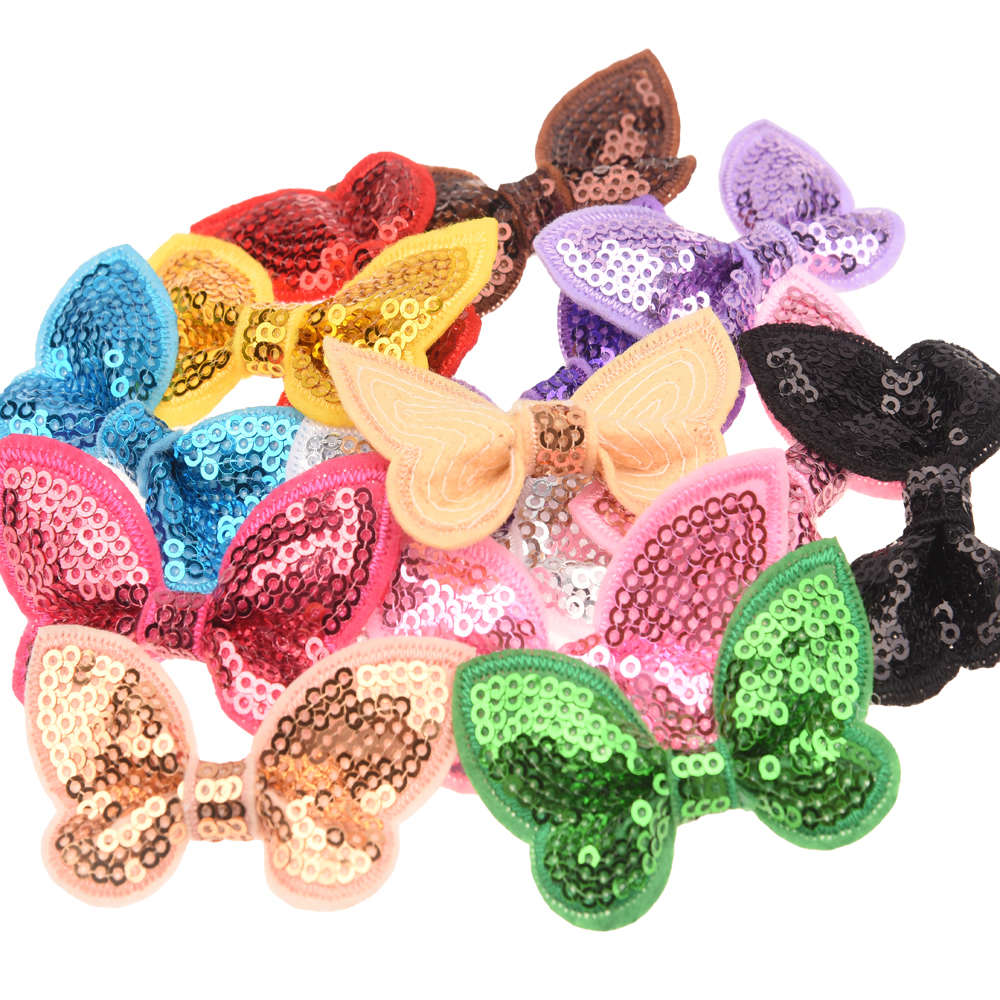 120PCS 6CM Butterfly Shape Hair Bows Bowknots Boutique For Headbands NO clips