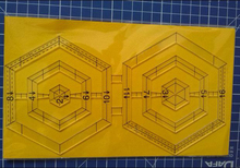 DIY sewing tool,two hexagon patchwork-ruler,drawing template