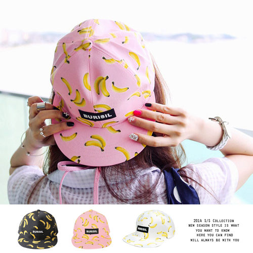 Free shipping wholesale banana Pineapple cherry fruit pattern sunbonnet female summer baseball hiphop snapback cap fashion<br><br>Aliexpress
