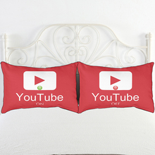 IKathoME ON/OFF YouTube Couple Pillow Cases Red/White Printed Pillow Covers for Home,Cheap Bedding Pillowcase 50x76cm,20x30in