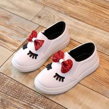 New 2017 children Shoes Cute Cartoon Baby girls boots PU Leather Kids Sports Shoes
