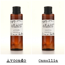 AKARZ Famous brand pure natural avocado Camellia essential oil natural aromatherapy high-capacity skin body care 100ml*2(China)
