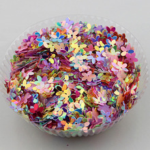 free ship 25g/pack about 1000 PCS 10mm Pierced knurling Pentalobe Flatback Resin Sequins DIY ornament mix