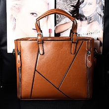 Women's Leather Bag Luxury Designer Handbags Lady Brown Shoulder Bag OL Work Woman Bags Messenger Bag