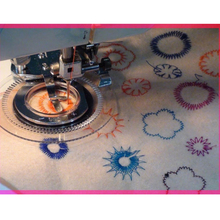 Embroidery Machine New Presser Fancy Flower Stitch Embroidery Foot for Domestic Sewing Machine accessories spare parts broder(China)