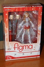 Hot Sale Anime Game Figma 178 # Sword Art Online Yuuki Asuna Action Figure Toys New Box