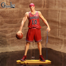 GonLeI Anime Games SLAM DUNK Sakuragi Hanamichi PVC Action Figures Collection Model Toys Doll 28cm Free Shipping SA453