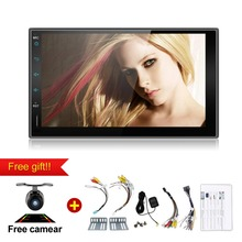 7inch Car Media Player 2Din Bluetooth MIC GPS WiFi Android 6.0 Quad Core Car DVD MP3 MP4 Player FM/AM radio Touch