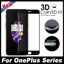 Full Cover 3D Edge Curved Fit Tempered Glass For One Plus OnePlus 5 3 3T Five Three 1+5 A5000 A3000 A3010 Screen Protector Film