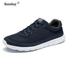 Kensbuy Brand Summer Mens Sport Shoes Breathable Sneakers Air Mesh Lace Up Running Shoes For Men Outdoor 2017