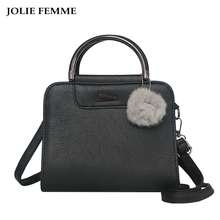 JOLIE FEMME Korean Women Mini Tote Handbags Leather Small Square Crossbody Bag Casual Bag Ladies Fashion Handbags Bolsa Feminina