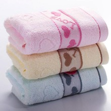 33x74cm Love word Jacquard 100% Pure Cotton Hand Towel Decorative Elegant Embroidered Bathroom Hand Towels Face Towels for Adult(China)