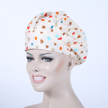 2017 Promotion Medical Clothing New Surgical Caps Women Doctor And Nurse Long Hair Medical Hat Pure Cotton Cap 2017007(China)