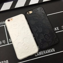 High quality Pu Leather cute Hello kitty minnie mickey case for Apple iphone 6 6s Lovers TPU phone case back cover