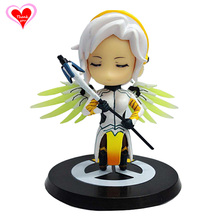 Love Thank You  OW Over game watch Overwatches Mercy cute figure toy Collectibles Model gift doll