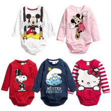 New Cute Cartoon Baby Romper Long Sleeve Cotton Baby Girl Clothes Newborn Bebes Jumpsuit Infant Toddlers Baby Boys Clothing