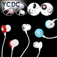 YCDC In-Ear Star Stereo Earphone Headset In-line Control Magnetic Clarity Stereo Sound With Mic For iPhone Smartphone MP3 MP4 PC
