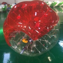 Inflatable Bumper Ball Diameter 1.5M Bubble Soccer Ball 0.8mm PVC Transparent Material Zorb Ball for Adults and Kids (2 Pcs )(China)