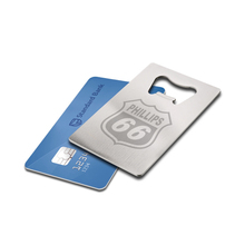 Unique Promotional Item Giveaway Custom Logo Business Gift Metal Stainless Steel Credit Card Bottle Openers for Customers(China)