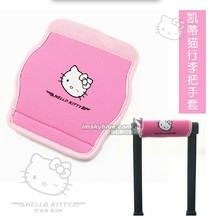 Women's Pink Hello Kitty Luggage Handle Cover Neoprene of Boot Airline Hostess Flexibility Protecting Sleeve Travel Accessories