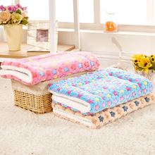 Winter Dog Bed Foldable Pet Blanket for Dogs Sweet Dream Cat Bed Cat Blanket Coral Cashmere Touch Soft Warm Dog Mat S M L