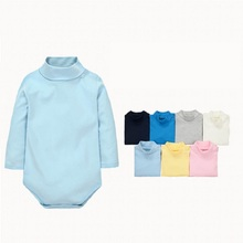 11 Colors Baby Boys Girls Rompers 2017 Newborn Baby's Clothes Kids Costume Turn-down Collar Clothing For Infant KF099(China)