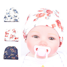 Newborn Baby Hats Infant Toddler Baby Girls Blue Red Rose Flower Beanies Comfortably New Hospital Caps Spring New Arrival