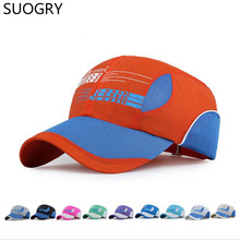 2016 Spring Summer Outdoor Sports Bike Quick Dry Sun Hat Baseball Cap UV Protect Snapback Net Hat for Men and Women Casual
