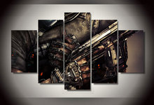 Framed Printed cod advanced warfare guns 5 pieces Group Painting room decor print poster picture canvas Free shipping/wo-812
