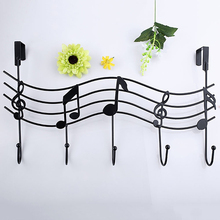 Vintage Metal Music Note Hook Coat Hat Bag Hanger Organizer Holder Wall Decor(China)
