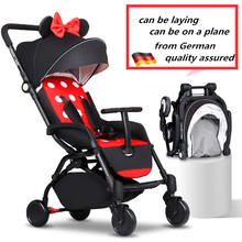 European Luxury Folding Baby Umbrella Stroller Baby Car Carriage Kid Buggy Pram Travel Wagon Lightweight Portable(China)
