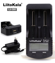 Liitokala lii300 LCD Charger for 3.7V 18650 26650 18500 Cylindrical Lithium batteries, such 1.2V AA AAA NiMH Battery Charger(China)