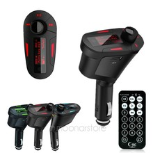 3 Colors Car Kit MP3 Mucsic Player Wireless FM Transmitter Radio Modulator With USB SD MMC+ Remote Control