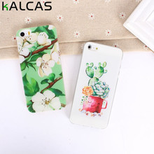 KALCAS For ip[hone 5 5s 5se 6 6 s 4.7'' 7  Case Cover Flower Cartoon Middle Finger Cute Cat Print Capa Soft Coque Bags Shell