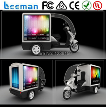 Shenzhen trucks/vehicle/car 3X2m P16mm double side truck mobile advertising led display panel sign video message 2015 Leeman