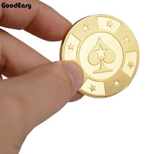 Buy Hot Poker Cards Guard Protector Metal Token Coin Plastic Cover Casino Texas Poker Chip Button Poker Stars Coins Collect for $11.00 in AliExpress store