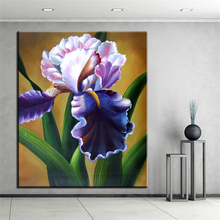 NO FRAME Home Printed FAMOUS FLOWER Oil Painting Canvas Prints Wall Art Pictures For Living Room Decorations(China)