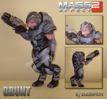 Mass Effect 2 Grunt 3D Paper Model DIY(China)