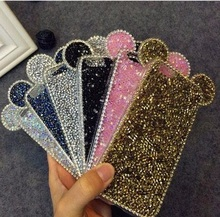 3D Micky Shinny Mouth Ear Glitter TPU Diamond Crystal Shell Cover For APPLE iPhone 6 s 6plus 6s plus New Hot Fashion Phone Cases